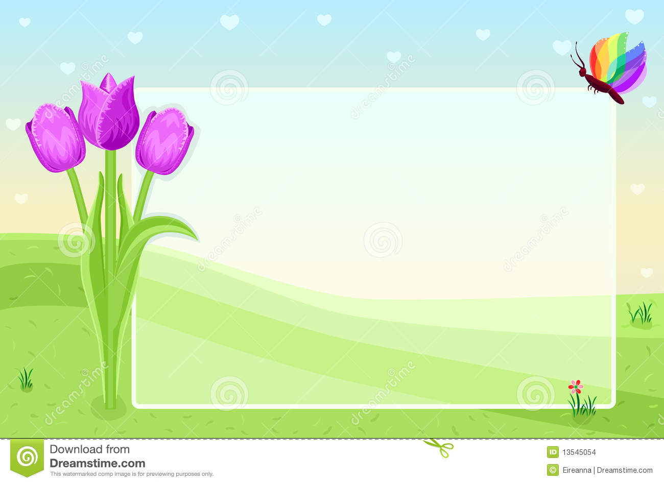 blank greeting card stock vector illustration of