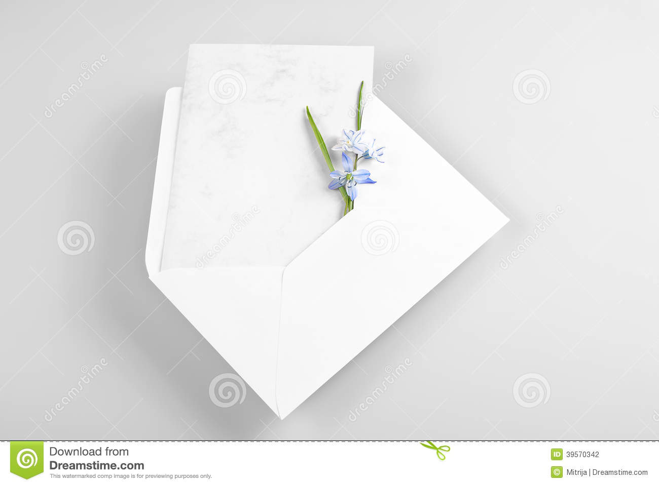 Blank greeting card in envelope with spring flowers stock photo blank greeting card in envelope with spring flowers kristyandbryce Gallery