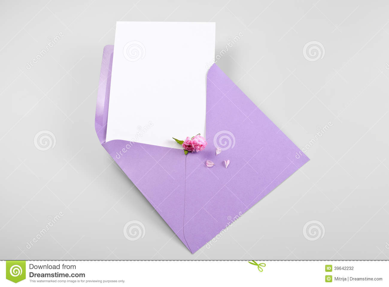 Blank greeting card in envelope with spring flowers and petals stock blank greeting card in envelope with spring flowers and petals kristyandbryce Gallery