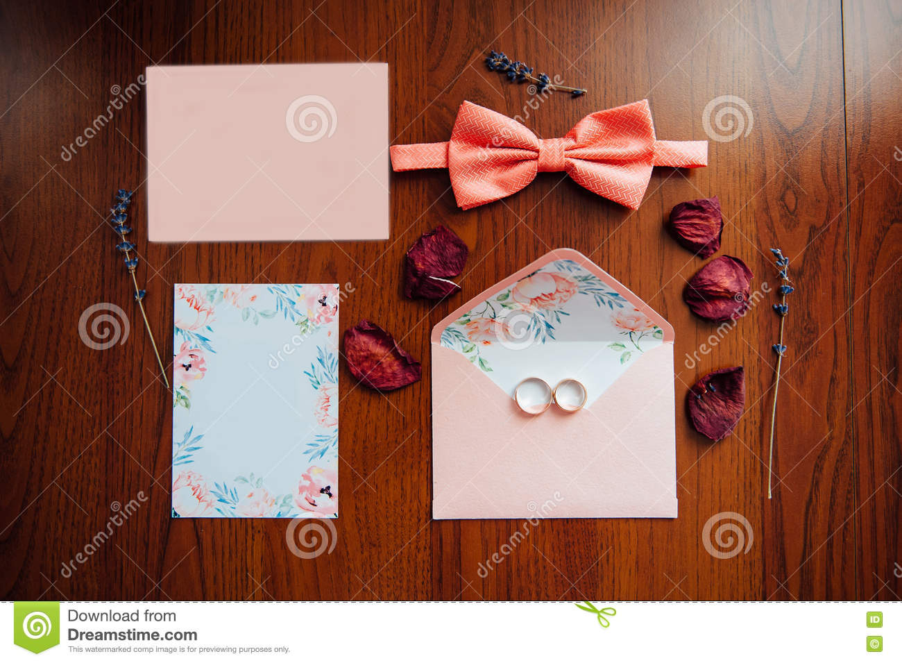 Blank Greeting Card With Flower Stock Image Image Of Business