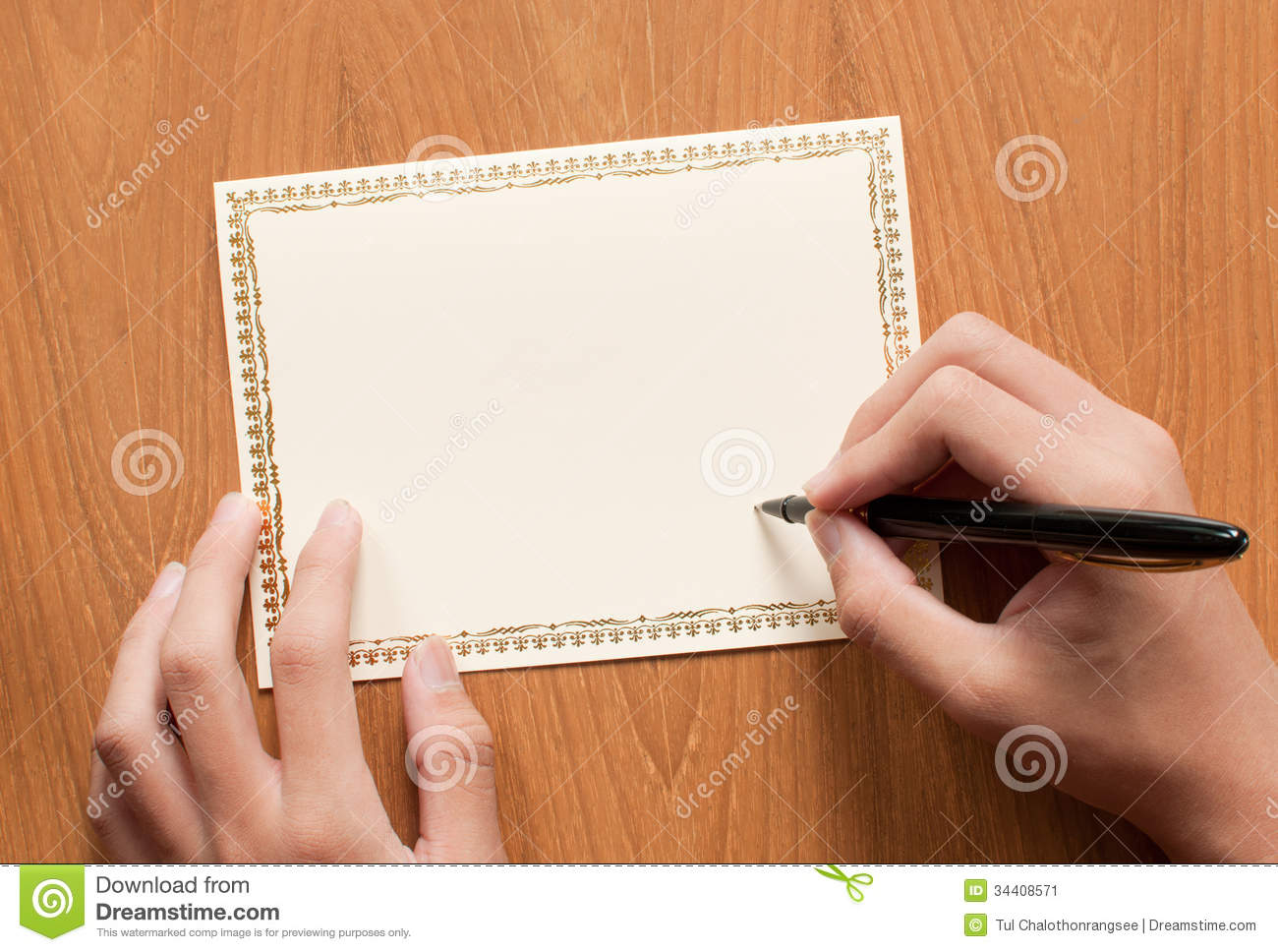 Blank Greeting Card Stock Image Image Of Invitation 34408571