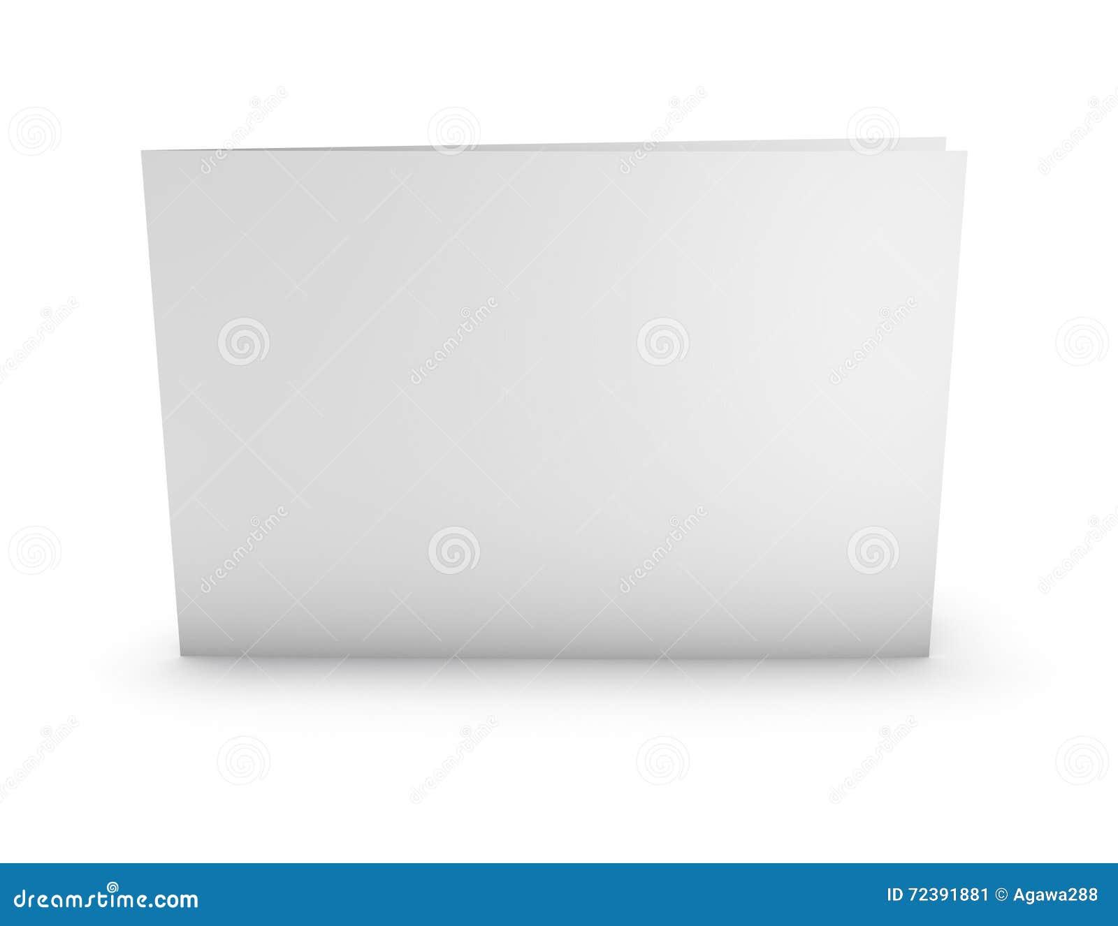 Blank Greeting Card Horizontal Orientation Mock Up Standing On