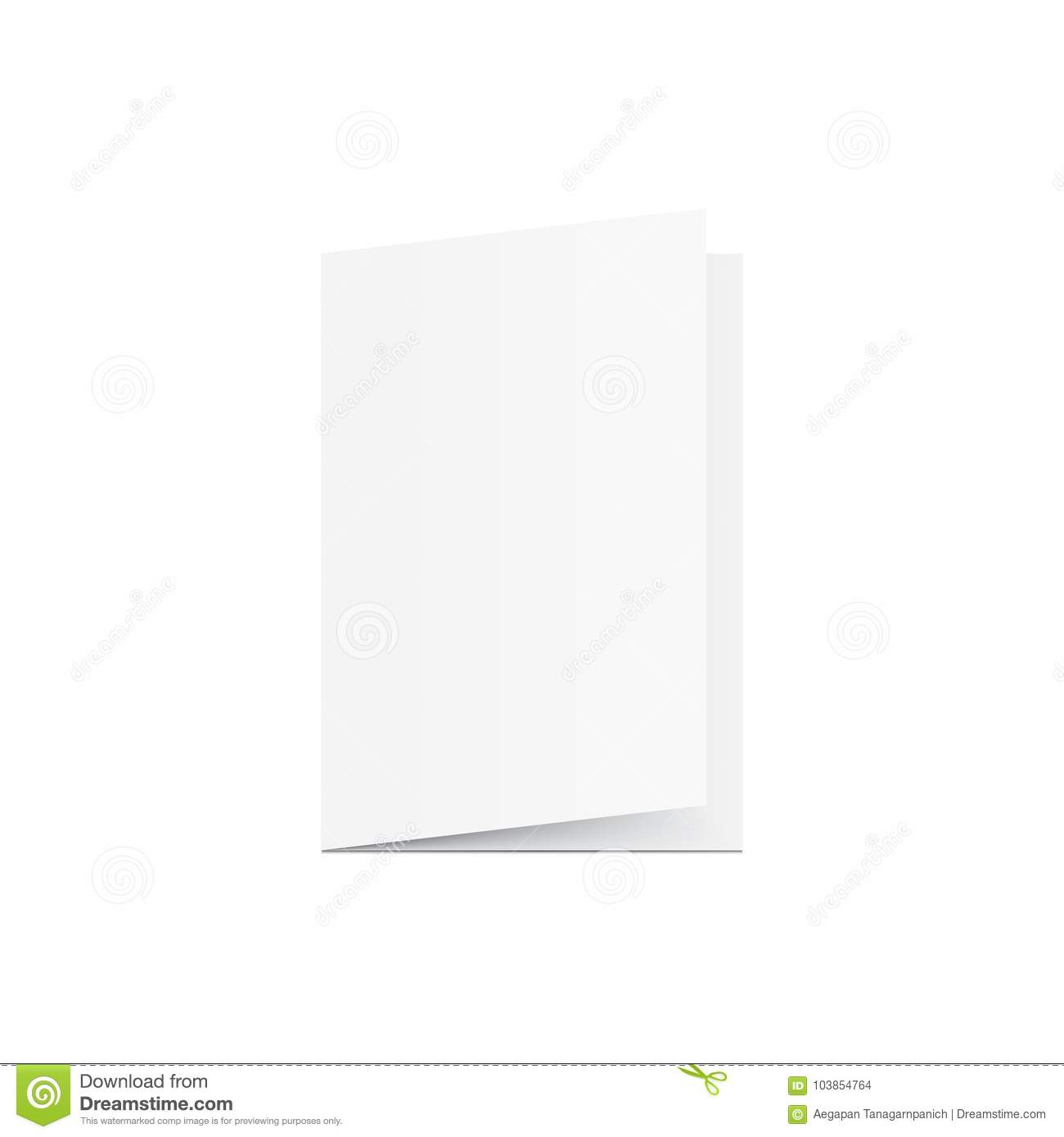 Blank Greeting Card Mockup Vector On White Background Mockup Co