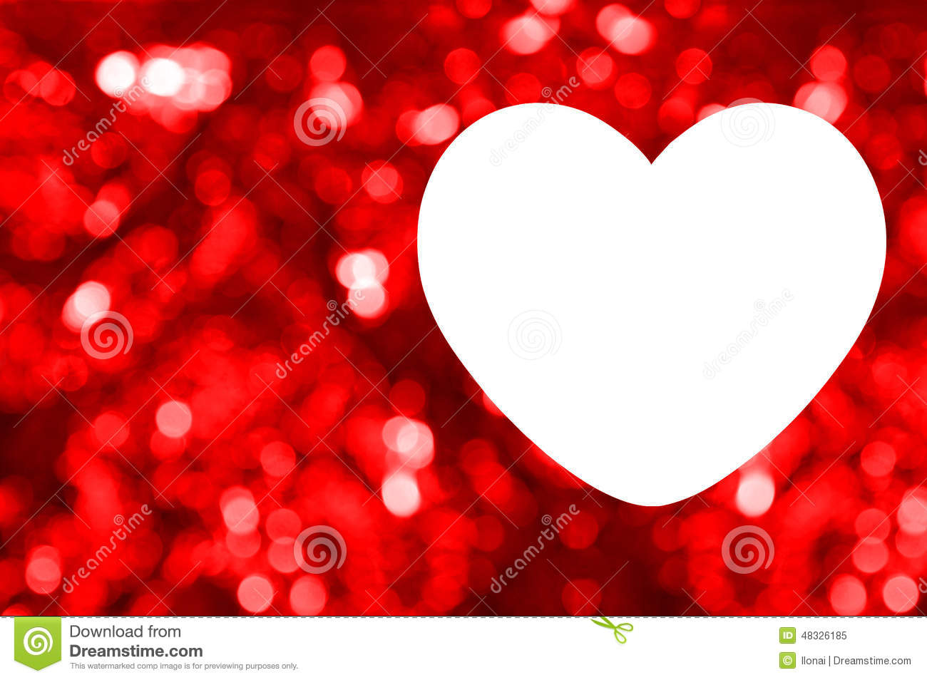 Blank Of Greeting Card With Red Bokeh Background Stock Image