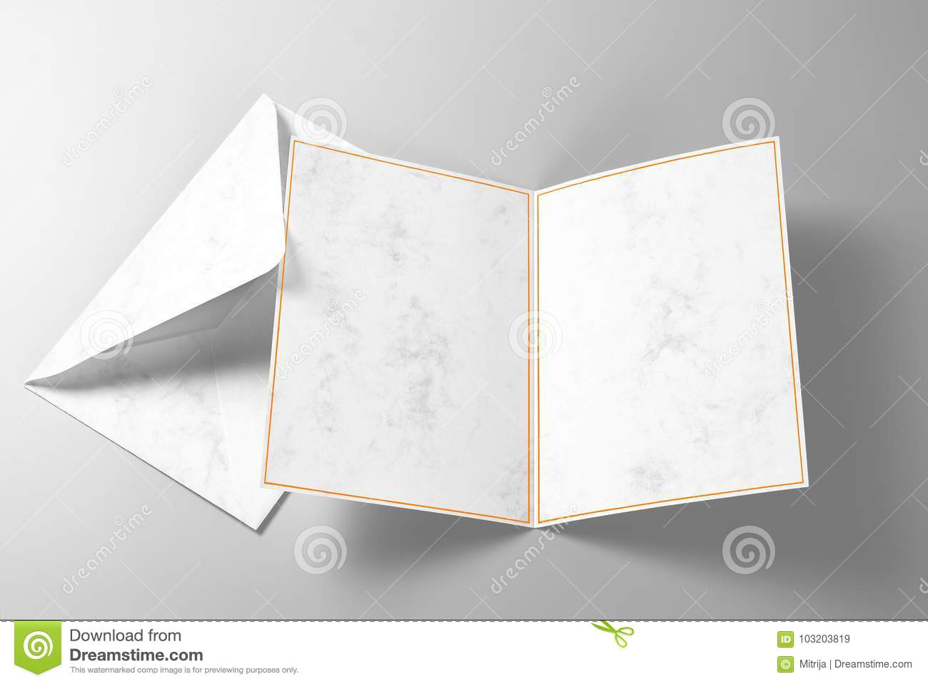 Blank Greeting Or Invitation Card And Envelope Stock Image