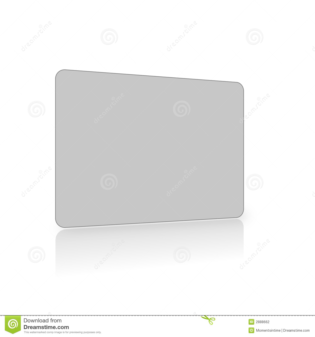 Blank grey card on white