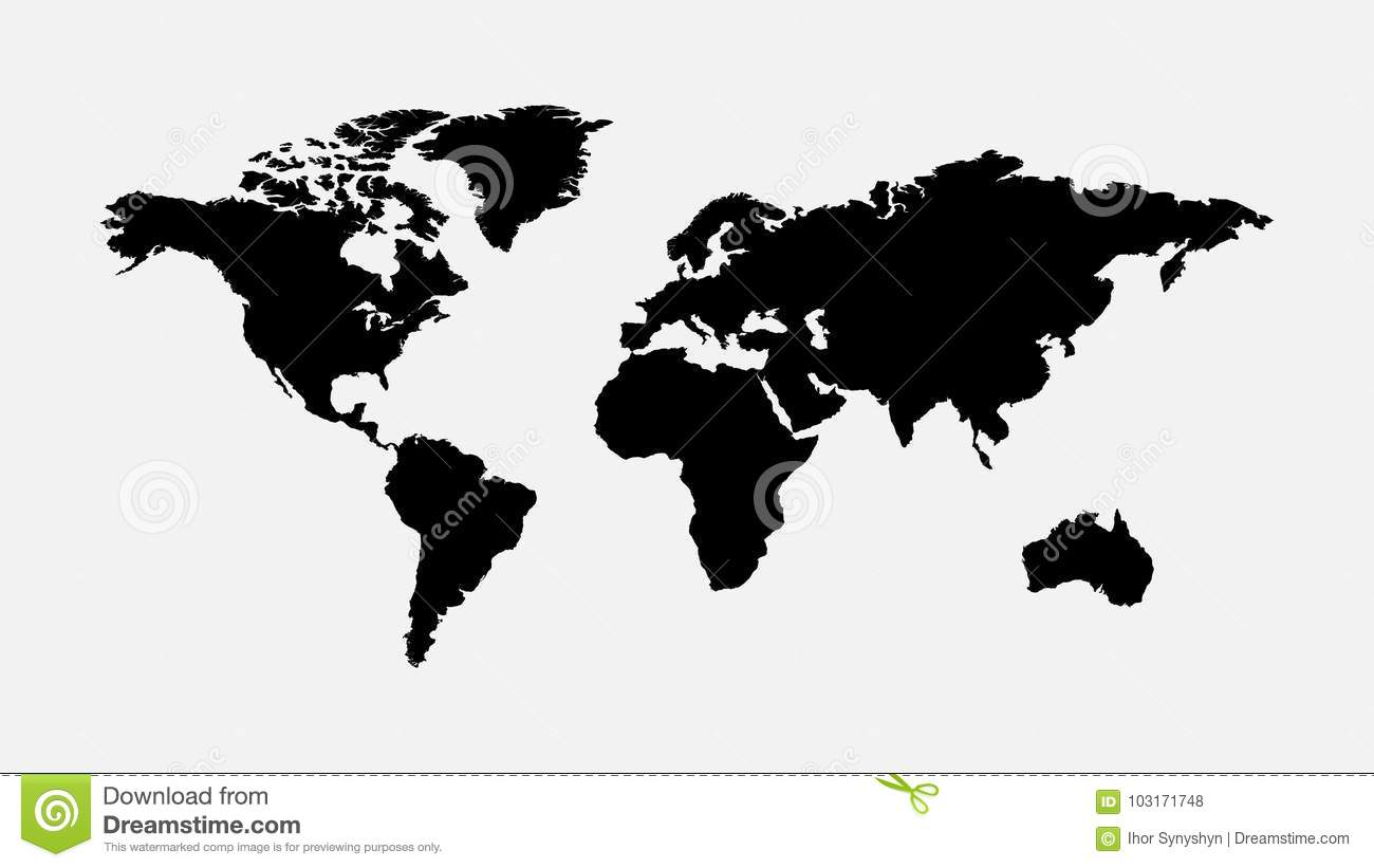 Blank grey world map isolated on white background stock blank grey world map isolated on white background gumiabroncs Image collections