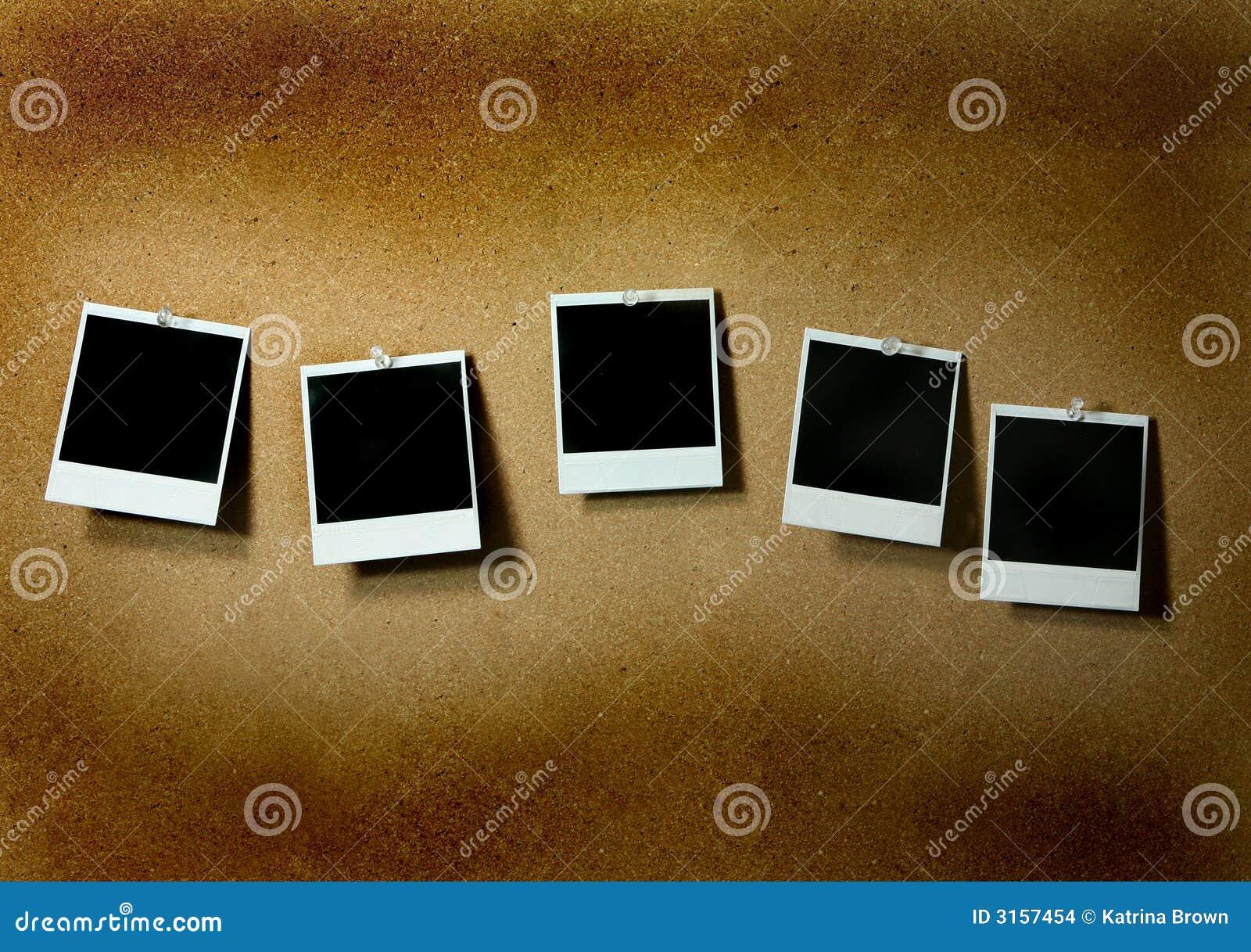 Blank Grunge Polaroids Pinned