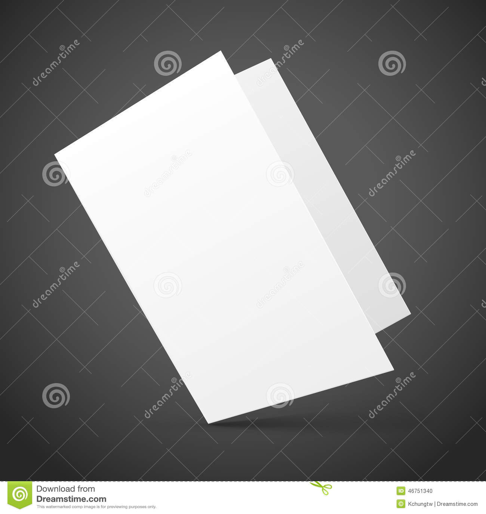 blank half fold brochure design stock vector illustration of