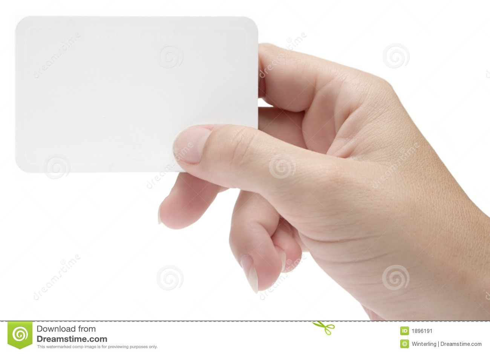 Blank hand w för affärskort
