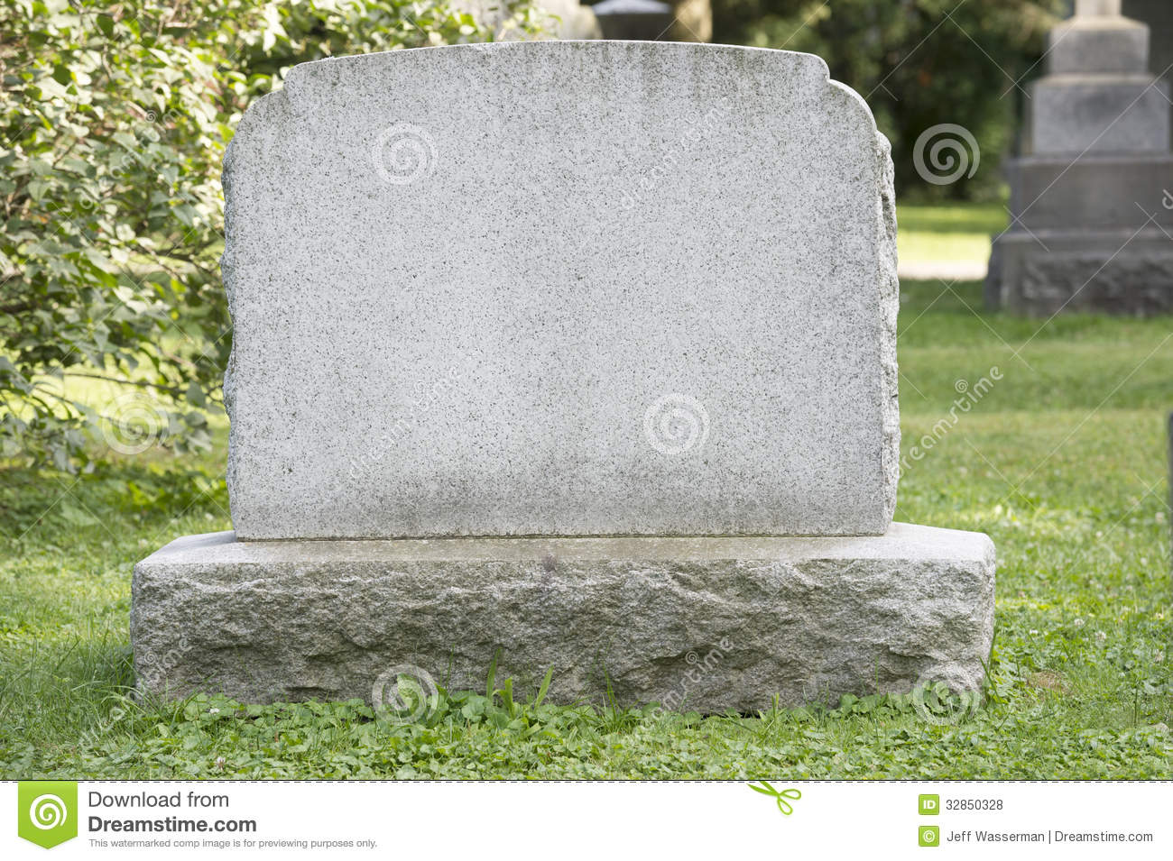 Blank Headstone Royalty Free Stock Photos - Image: 32850328