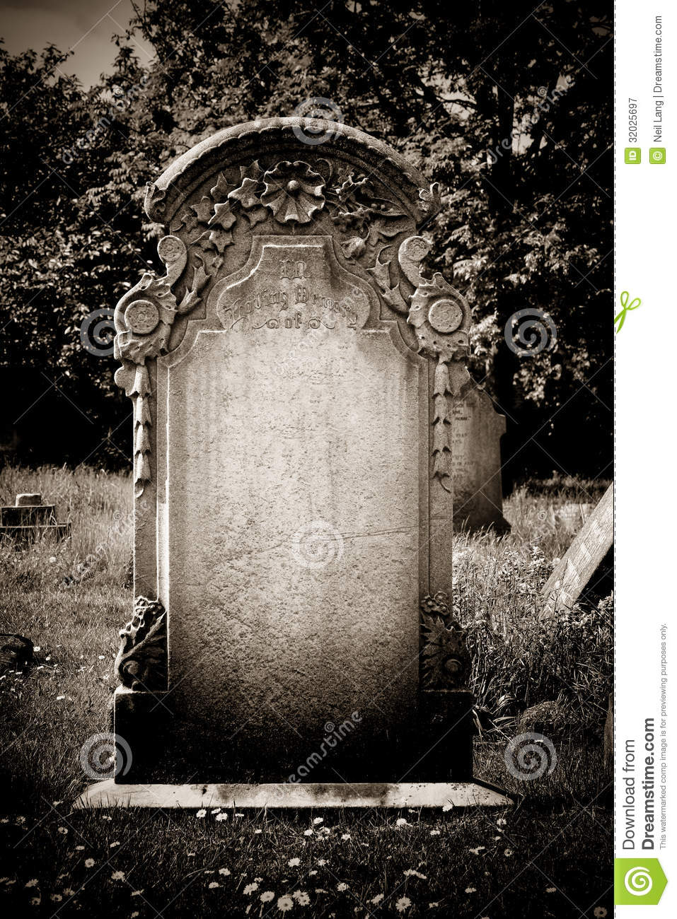 Blank Headstone Royalty Free Stock Photography Image