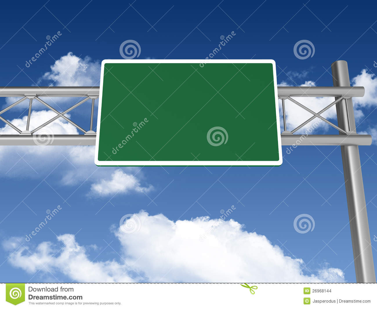 blank highway sign stock images image 26968144