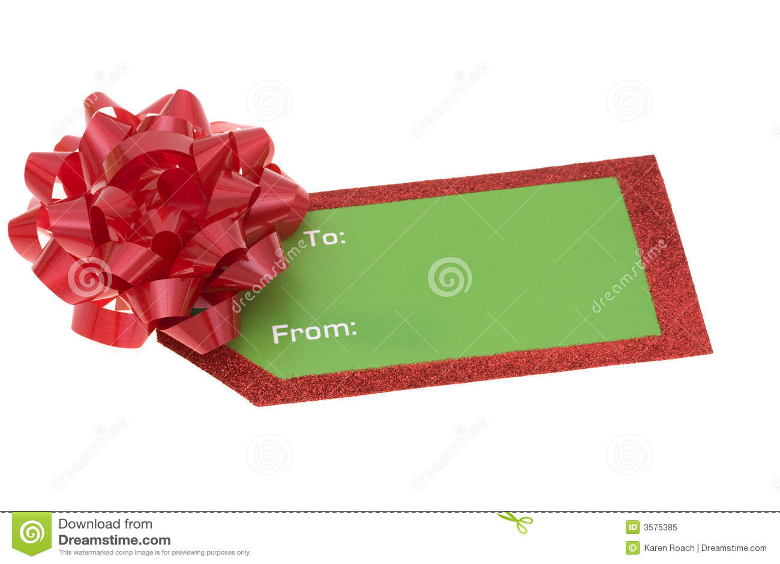 Blank Holiday Gift Tag Royalty Free Stock Photo - Image ...