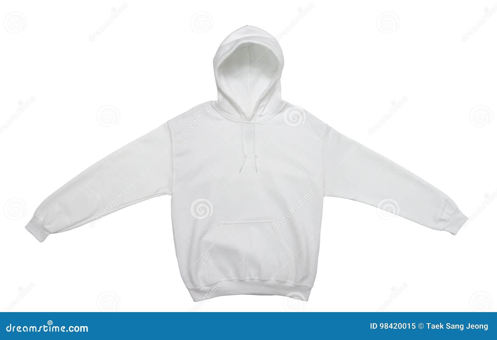 Blank hoodie sweatshirt color white front view