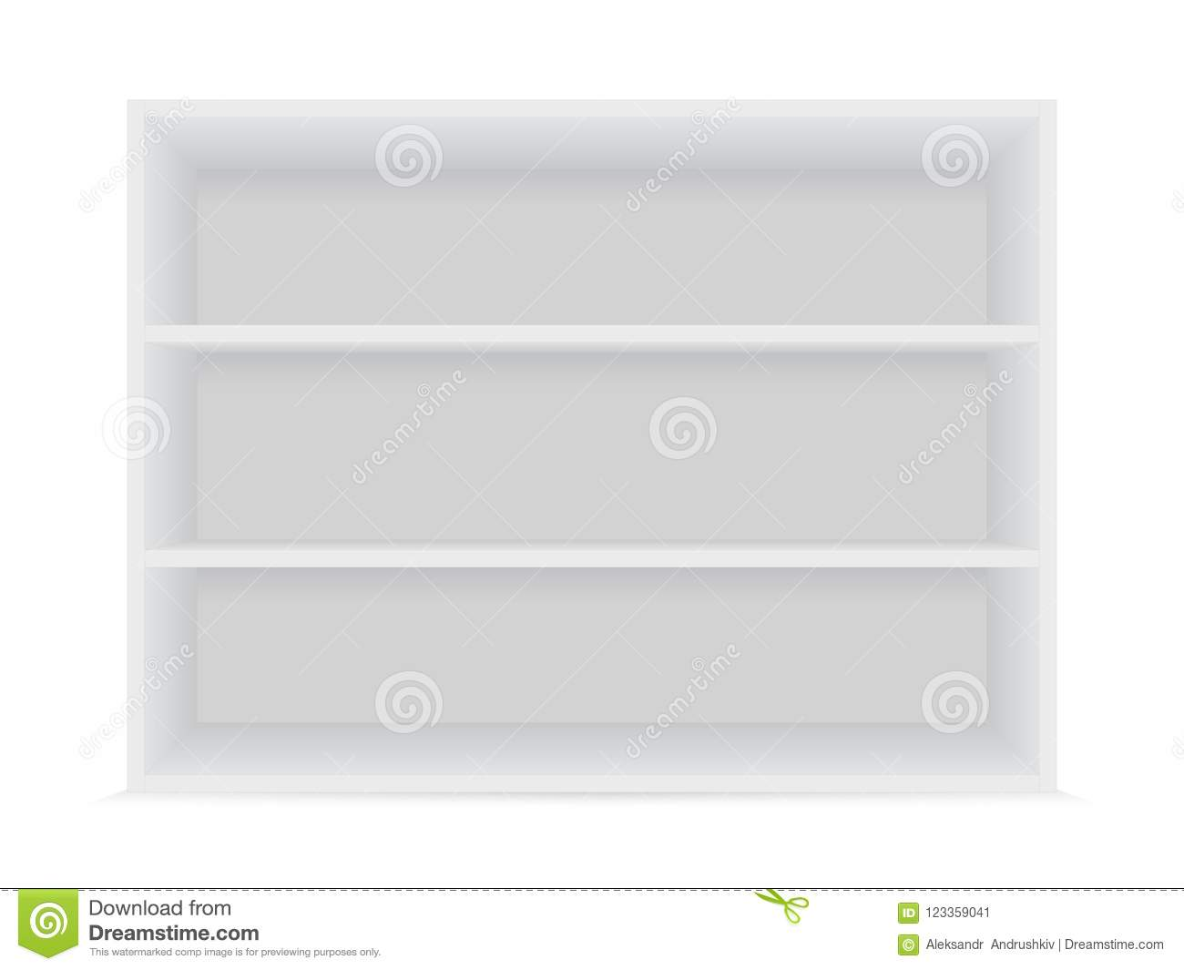 Blank White Shelves 2 Stock Vector Illustration Of Shelf
