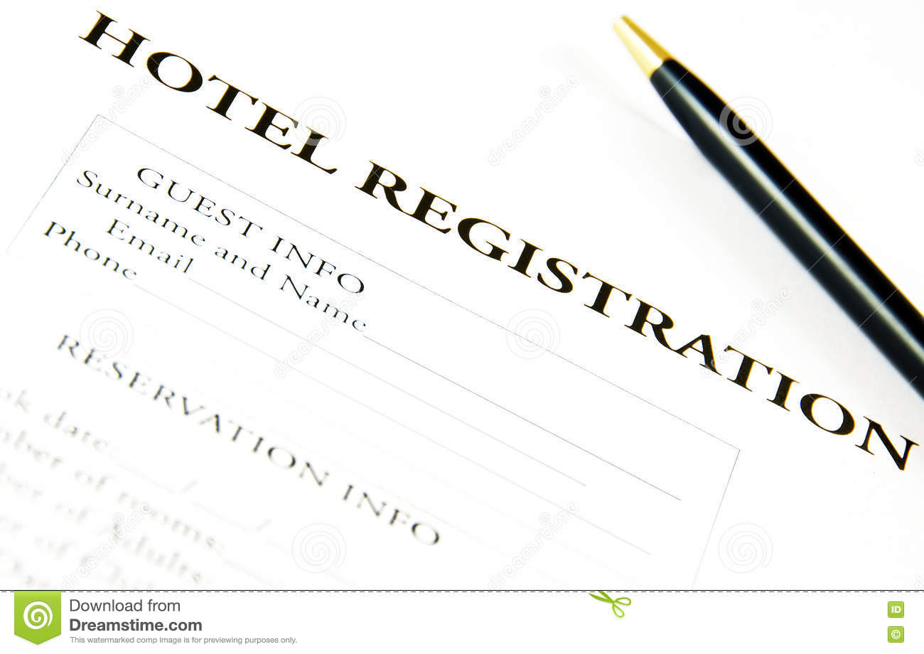 Blank hotel registration form stock image image of background download blank hotel registration form stock image image of background hotel 69773485 thecheapjerseys Gallery