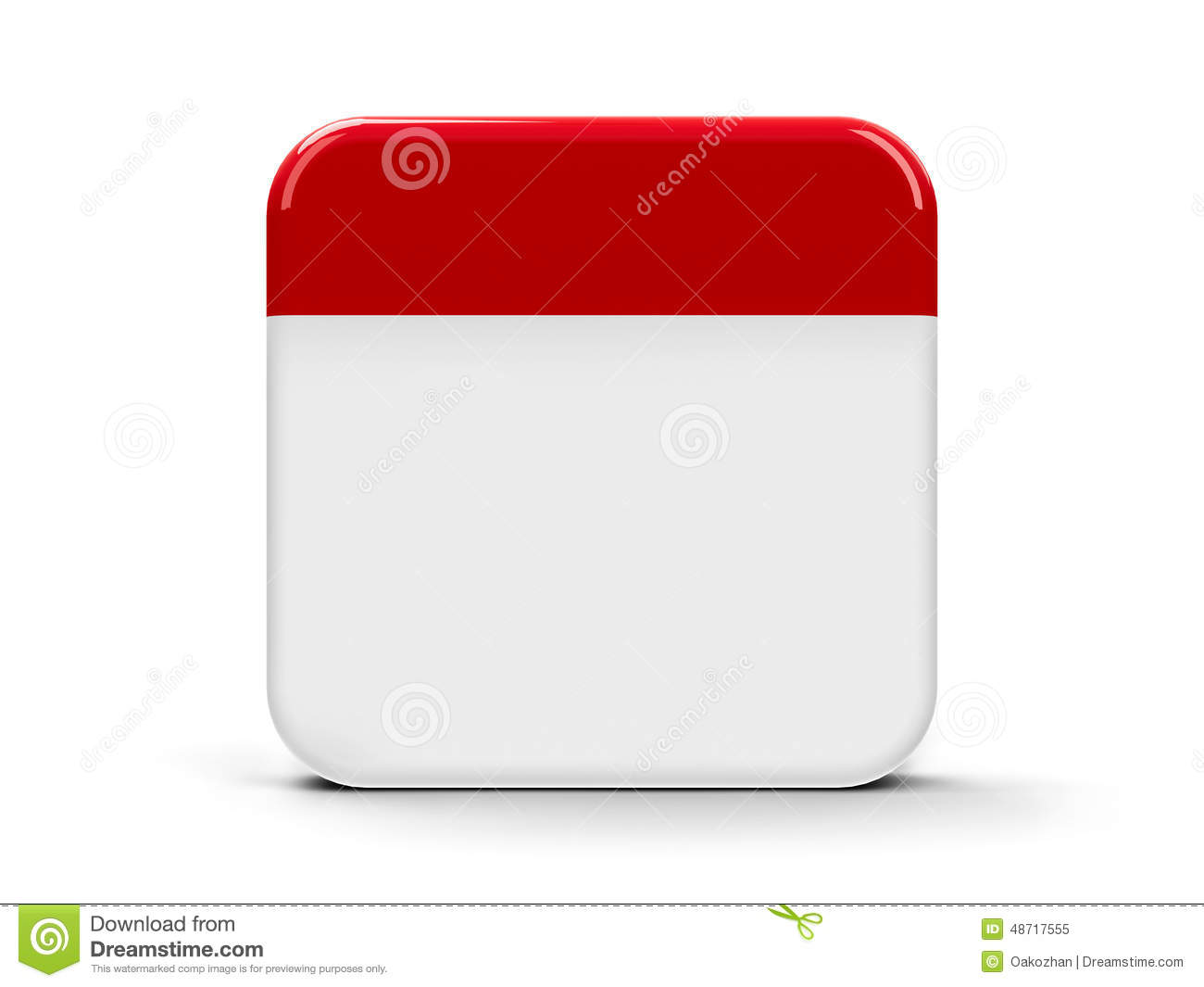 Blank Calendar App Icon : Blank icon calendar stock illustration of