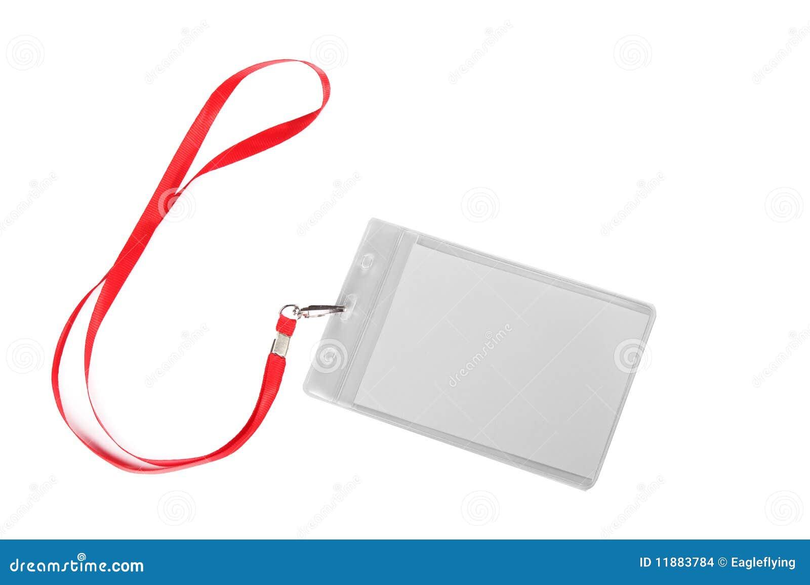 blank id card badge stock photo image of isolation 11883784