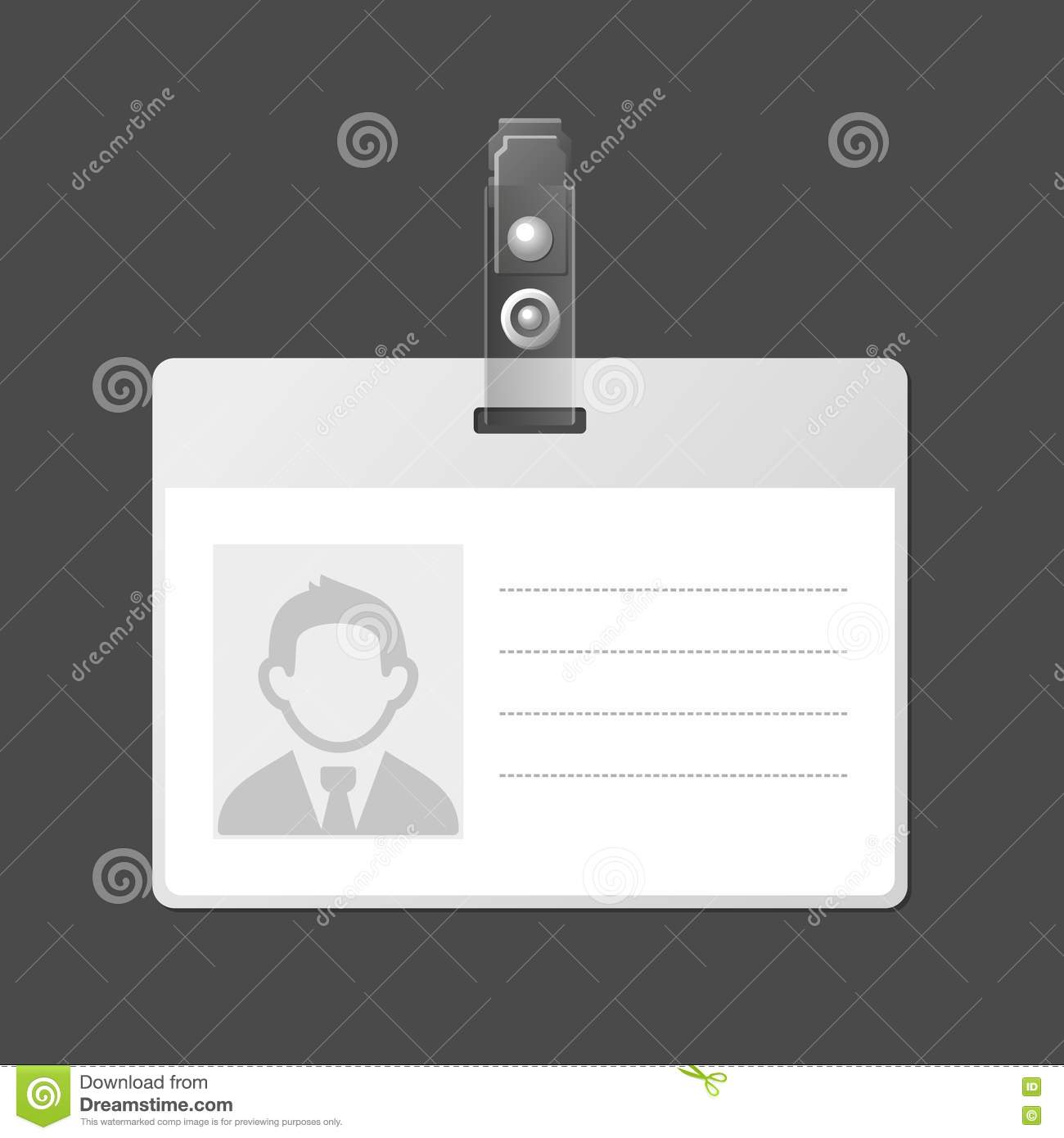 Id badge template for Badge buddy template