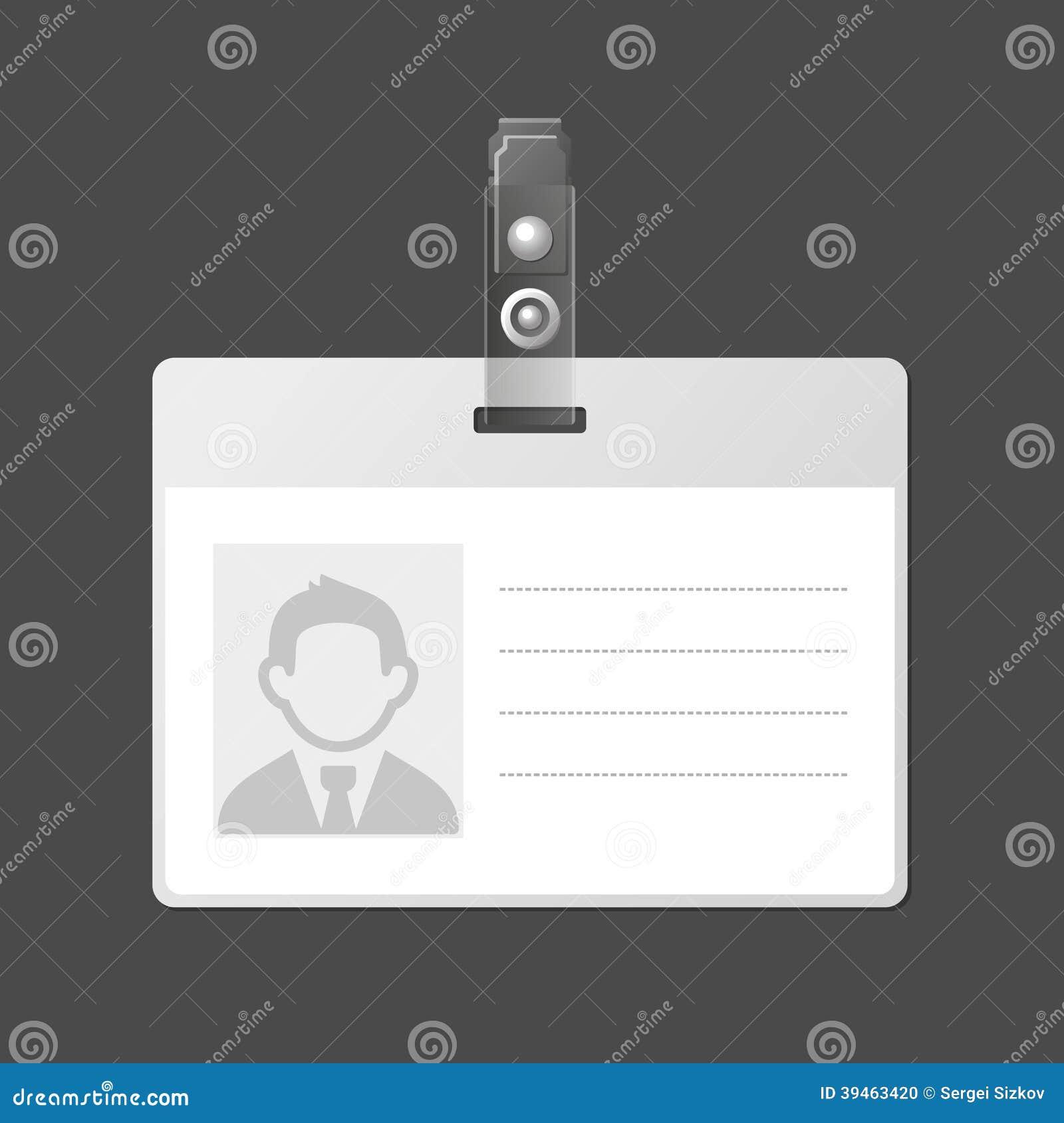 homeschool id card template - blank identification card badge id template vector stock