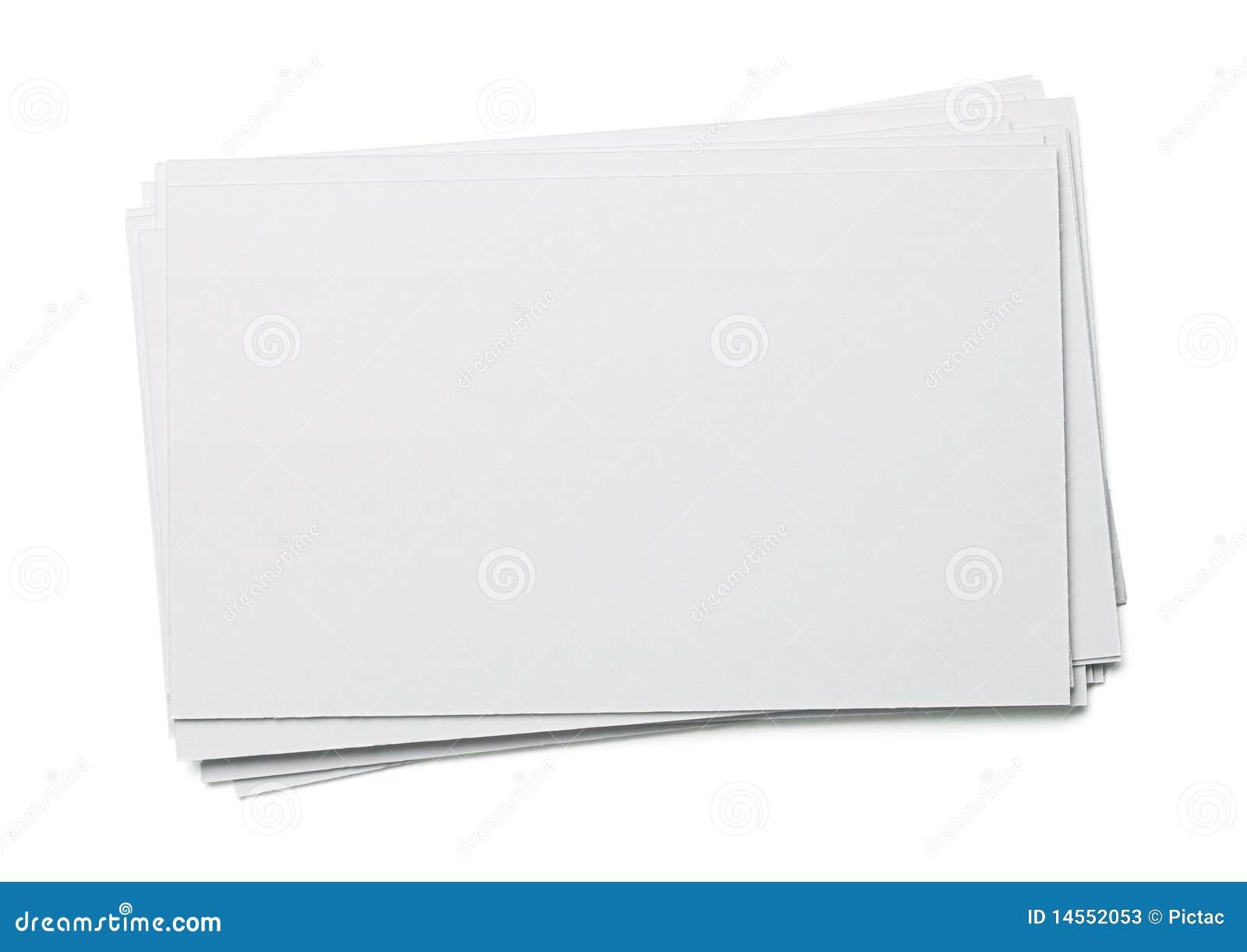 Blank Index Card Stock Photos - Image: 14552053