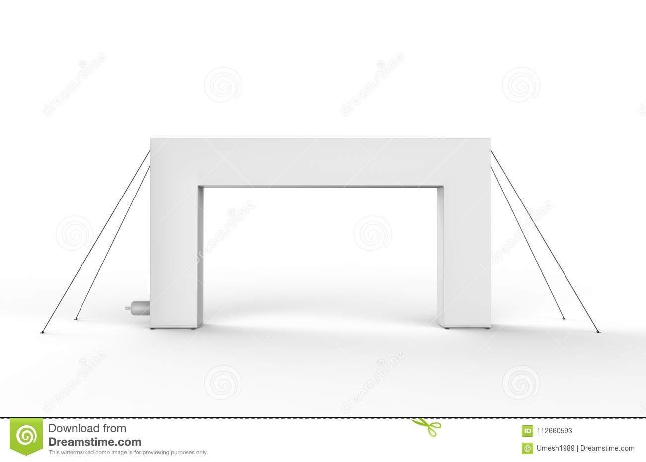 Blank Inflatable Square Arch Tube Or Event Entrance Gate 3d Render