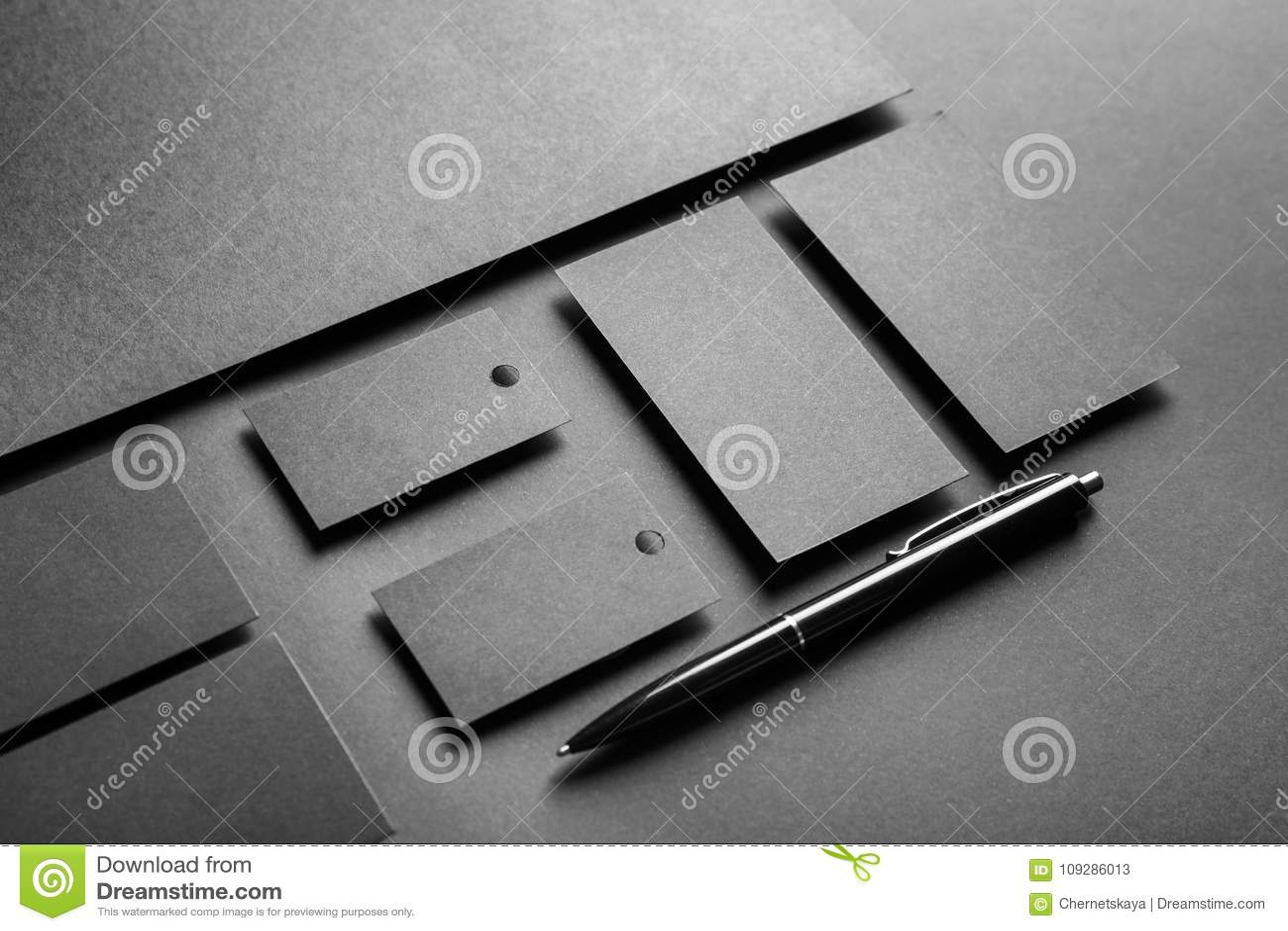 Blank items as mockups for branding