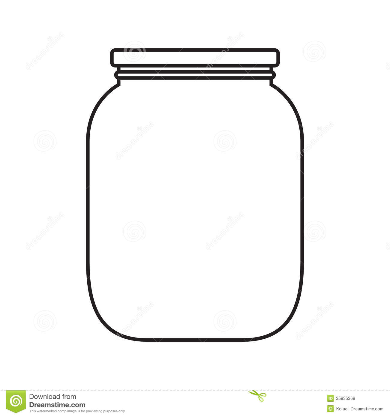 Blank Jar With Cap Royalty Free Stock Images - Image: 35835369