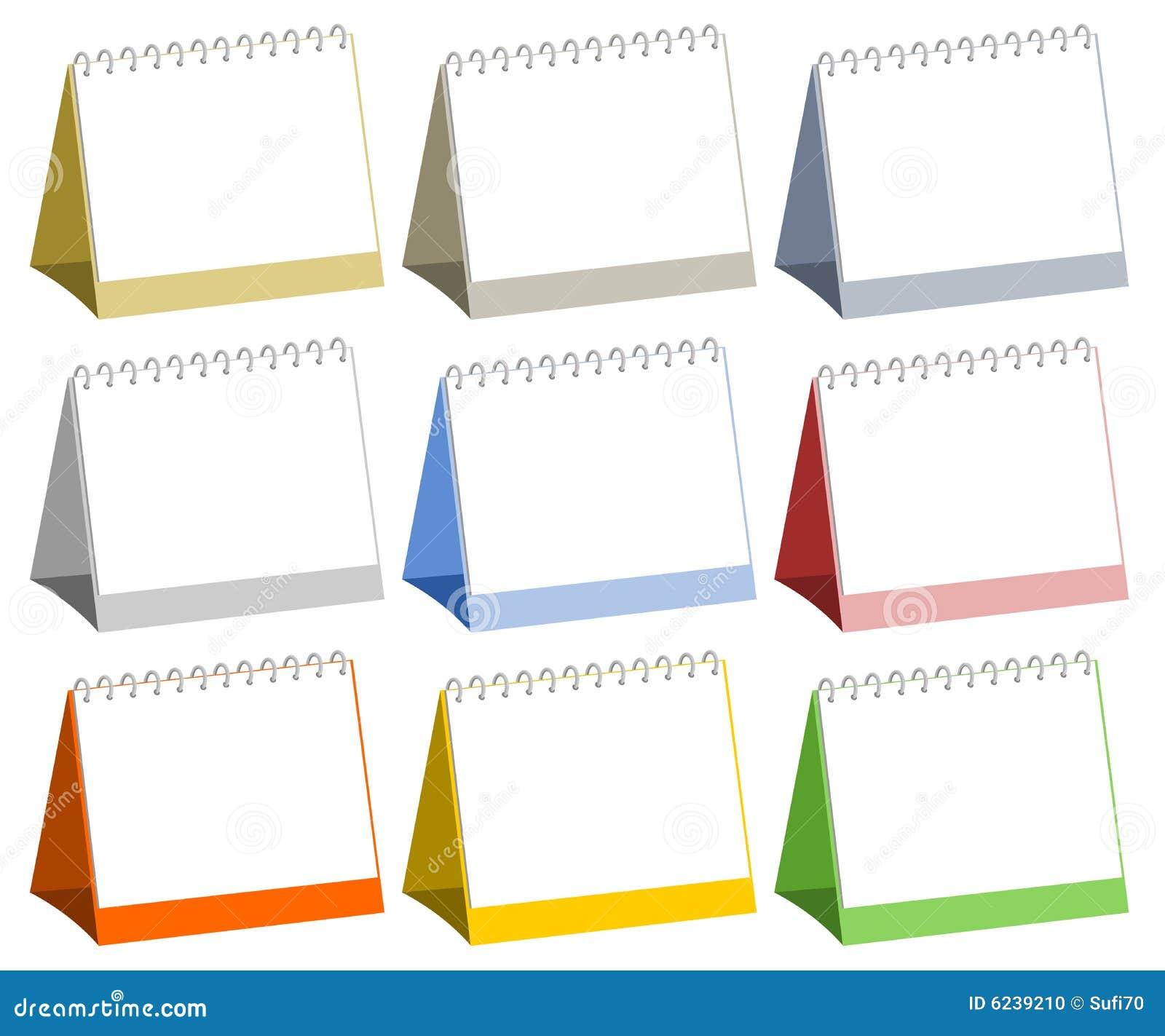 Blank kalendarzy stół