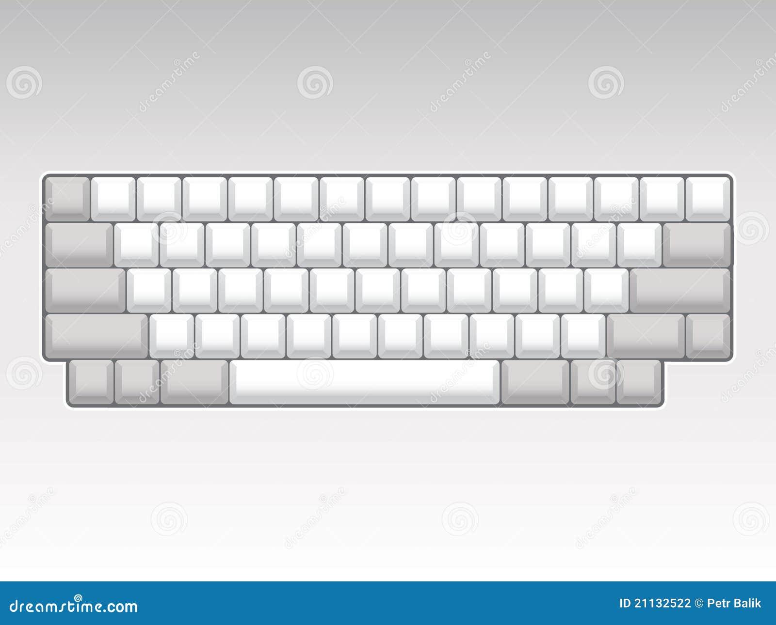 blank keyboard layout stock illustration illustration of board 21132522. Black Bedroom Furniture Sets. Home Design Ideas