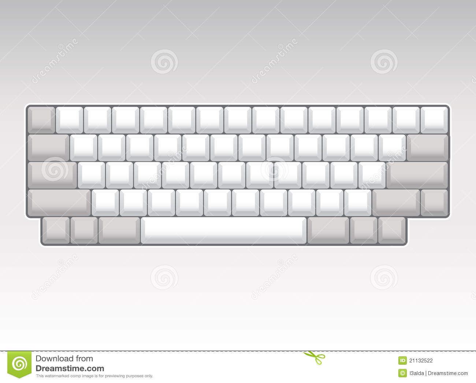 Blank Keyboard Layout Stock Photography