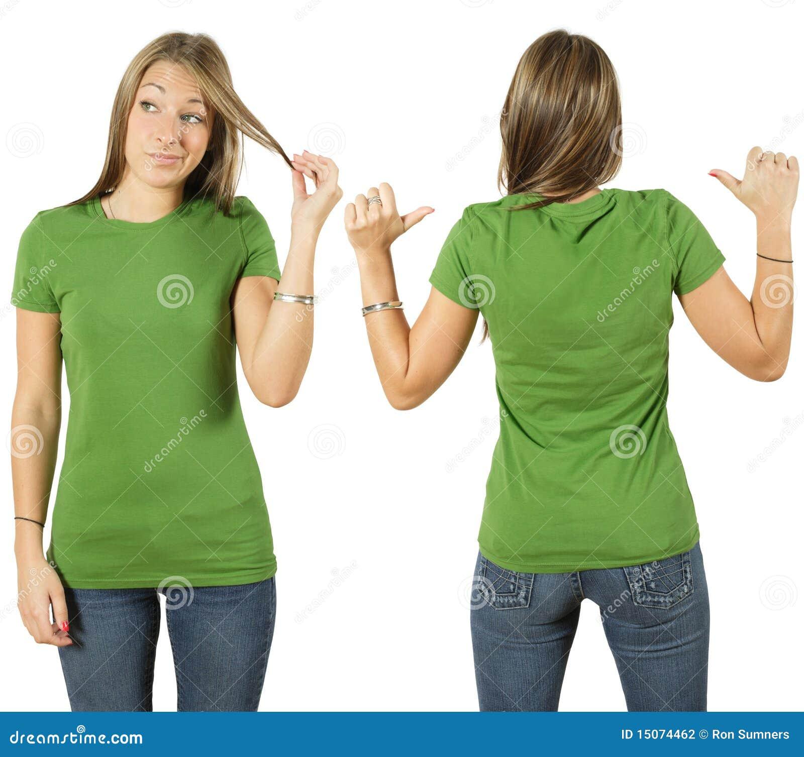 Blank kvinnliggreenskjorta