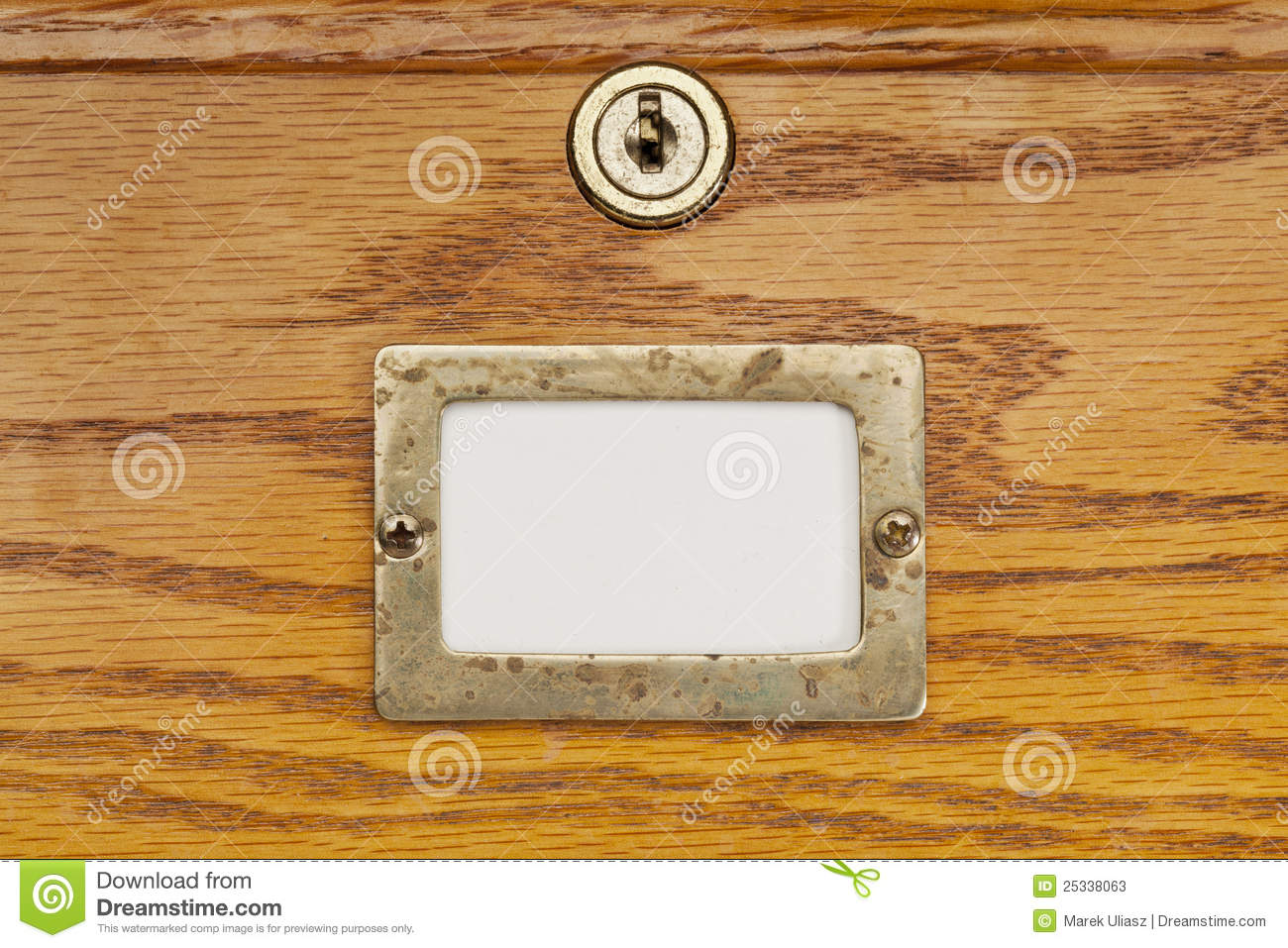 Blank Label Of File Cabinet Drawer Stock Image Image Of Label