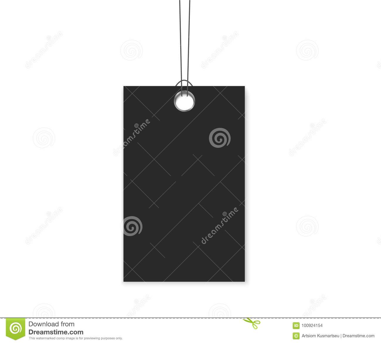 Blank Labels Template Price Tags Set Realistic Vector Stock Vector ...