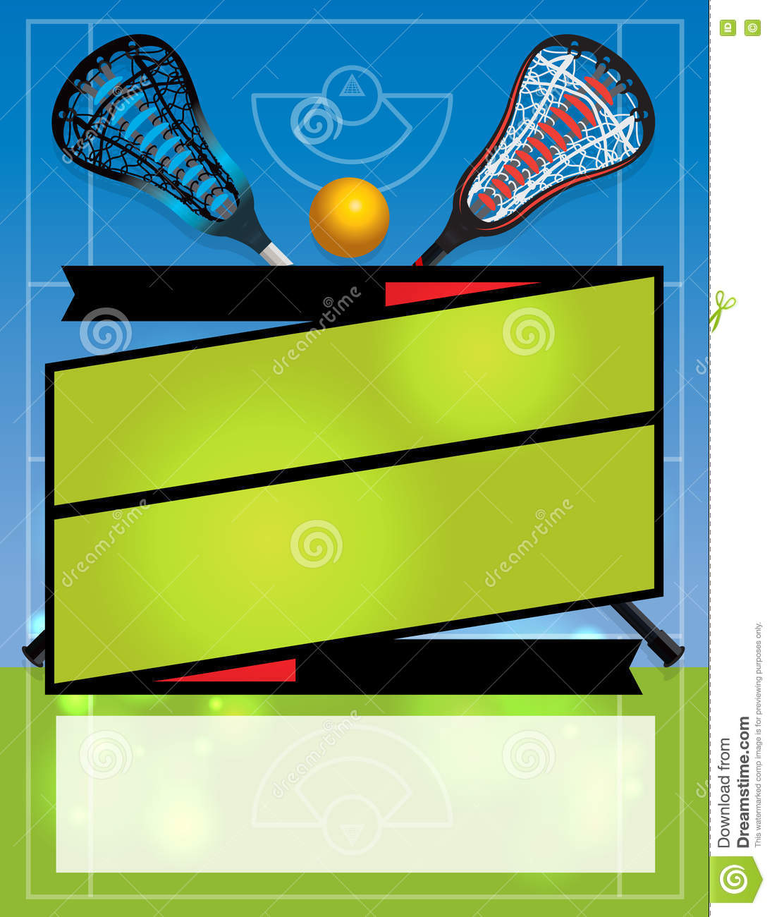 blank lacrosse flyer background stock vector illustration of match