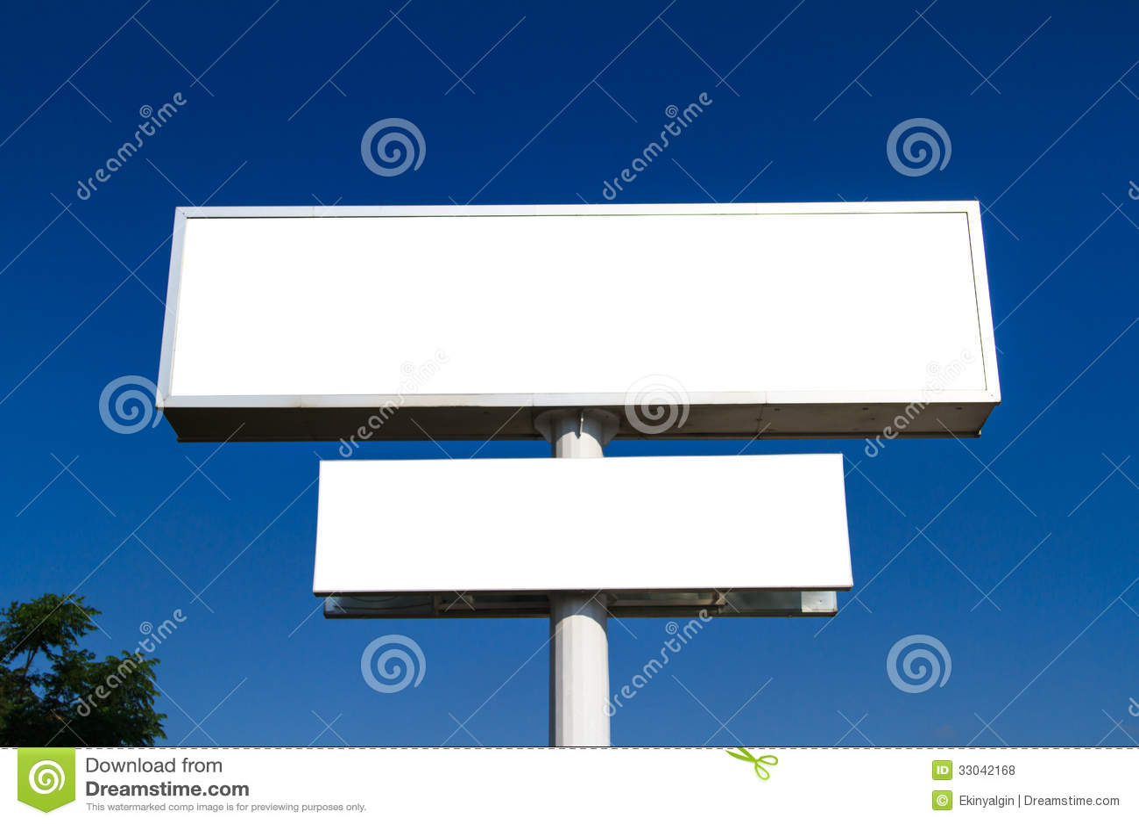 Blank Large Advertising Billboard Sign Royalty Free Stock