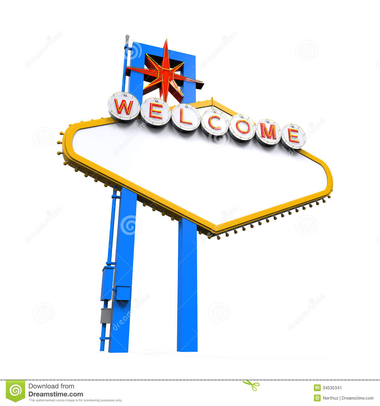 Blank Las Vegas Welcome Sign Stock Image Image 34535341