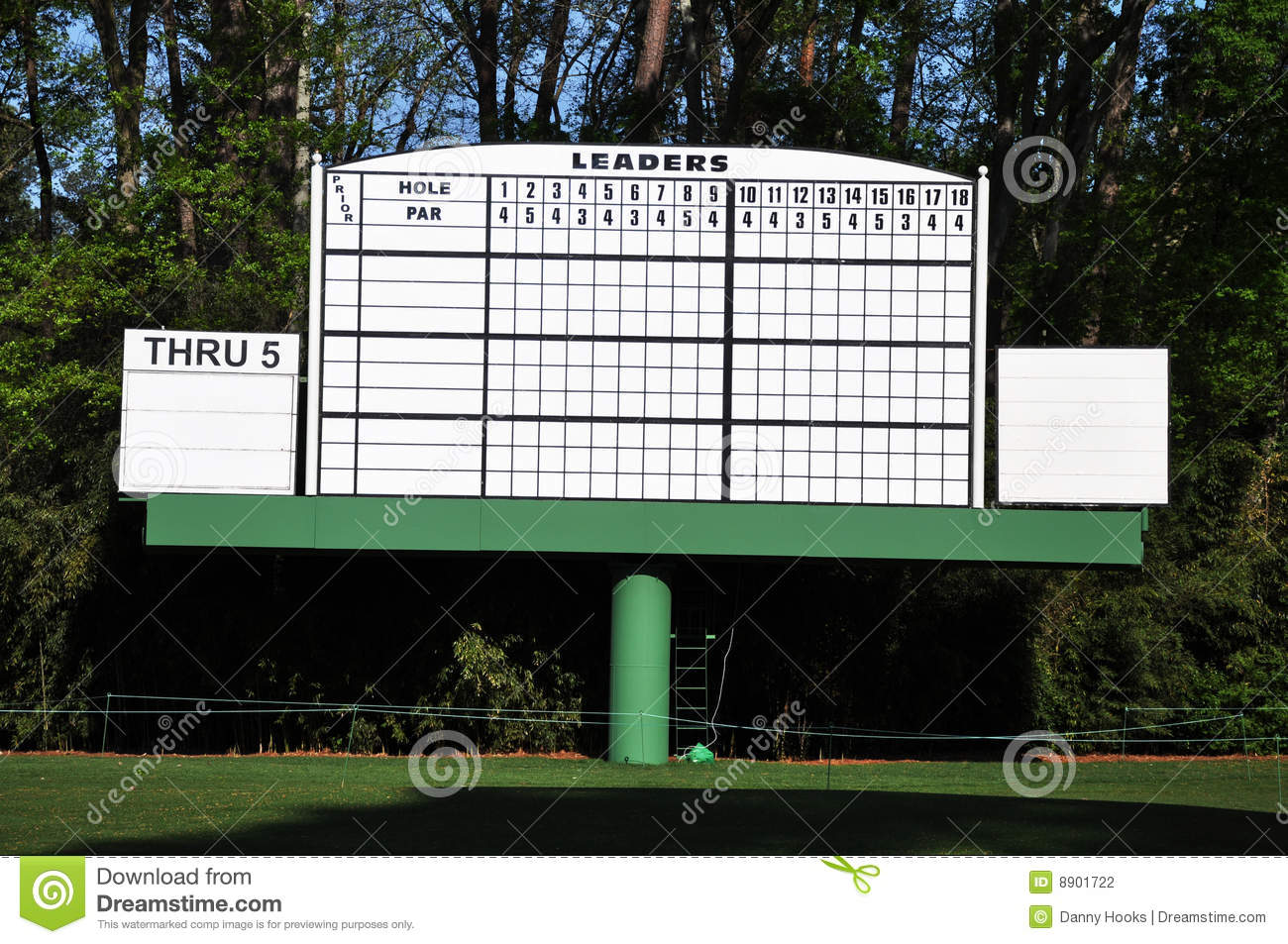 Blank Leader Board At Masters Editorial Photography - Image: 8901722