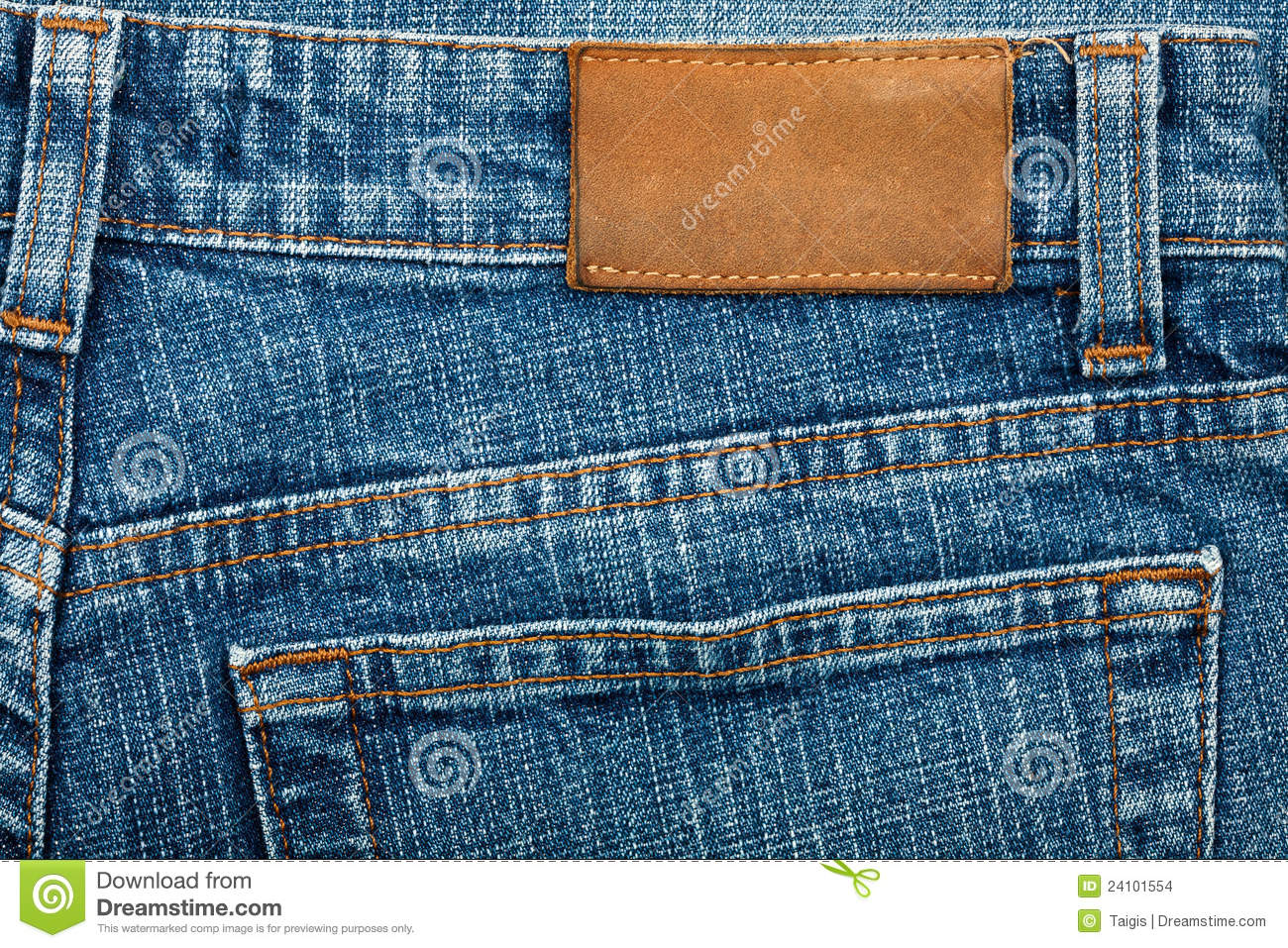 Blank Leather Jeans Label Stock Images  Image 24101554