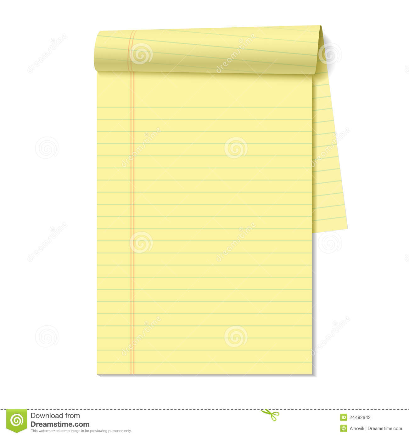 Blank Legal Pad Stock Photography Image 24492642