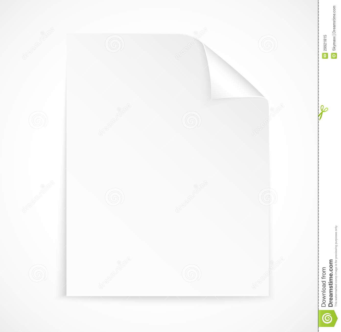 Blank Letter Paper Icon Royalty Free Stock Photo - Image: 29921815