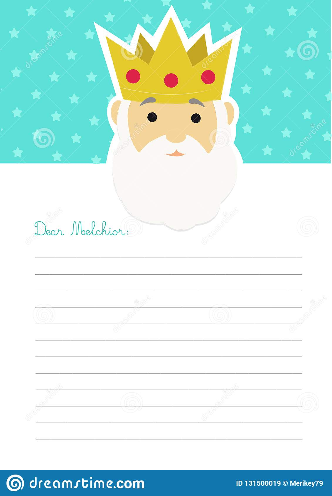 letter template to king melchior