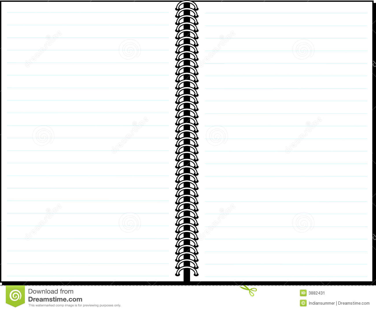 Blank Lined Notebook Background Stock Image - Image: 3882431