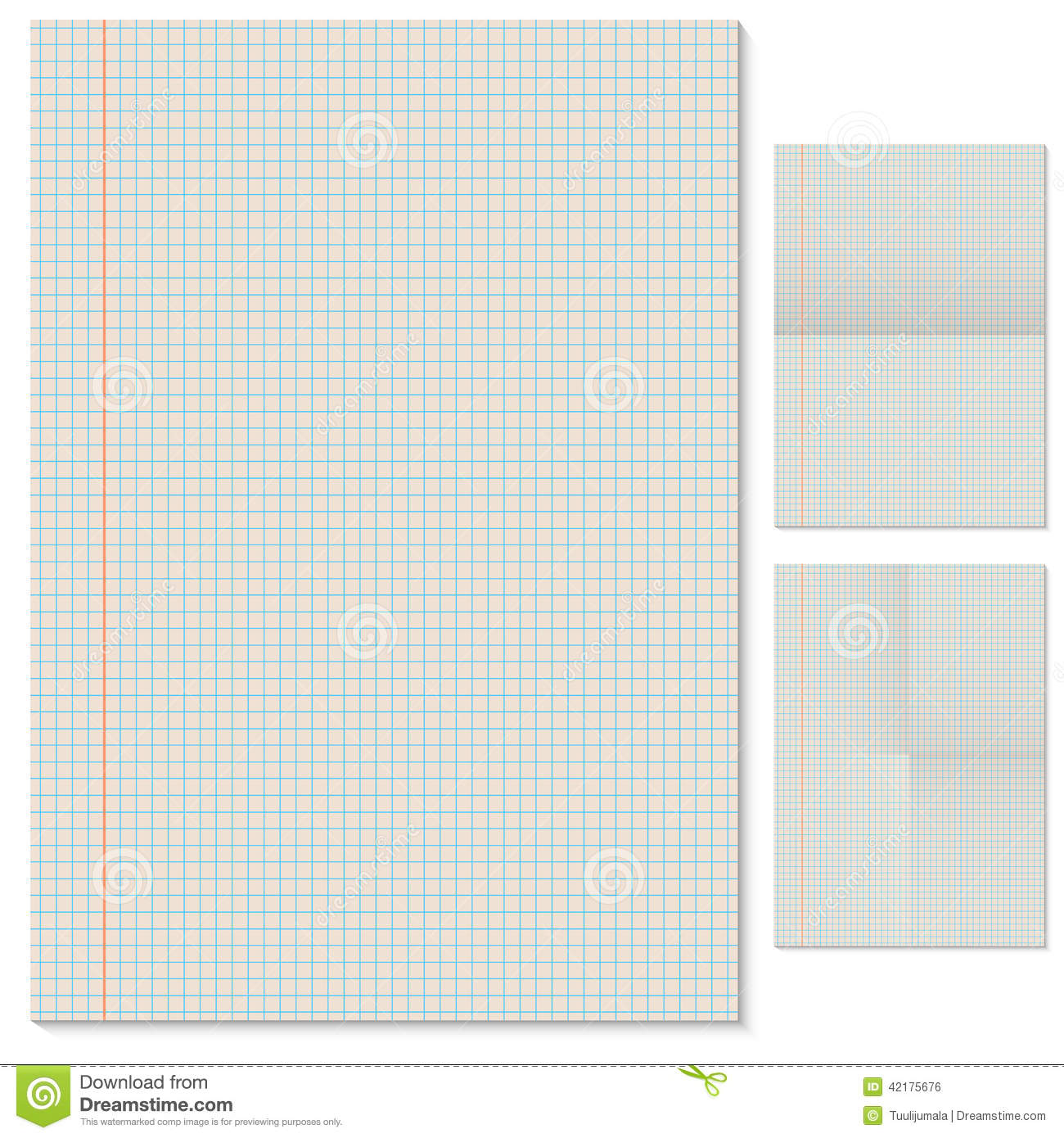 Blank Lined Page Template Vector Image 42175676 – Blank Lined Page