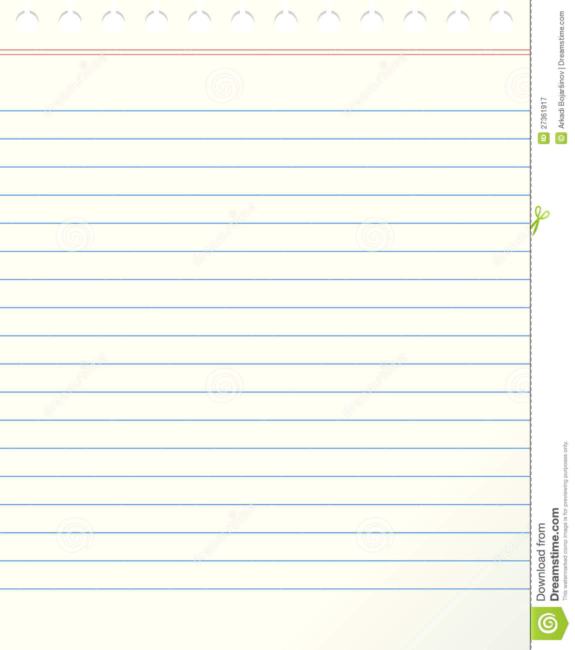 Lined Paper Template  Download Lined Paper