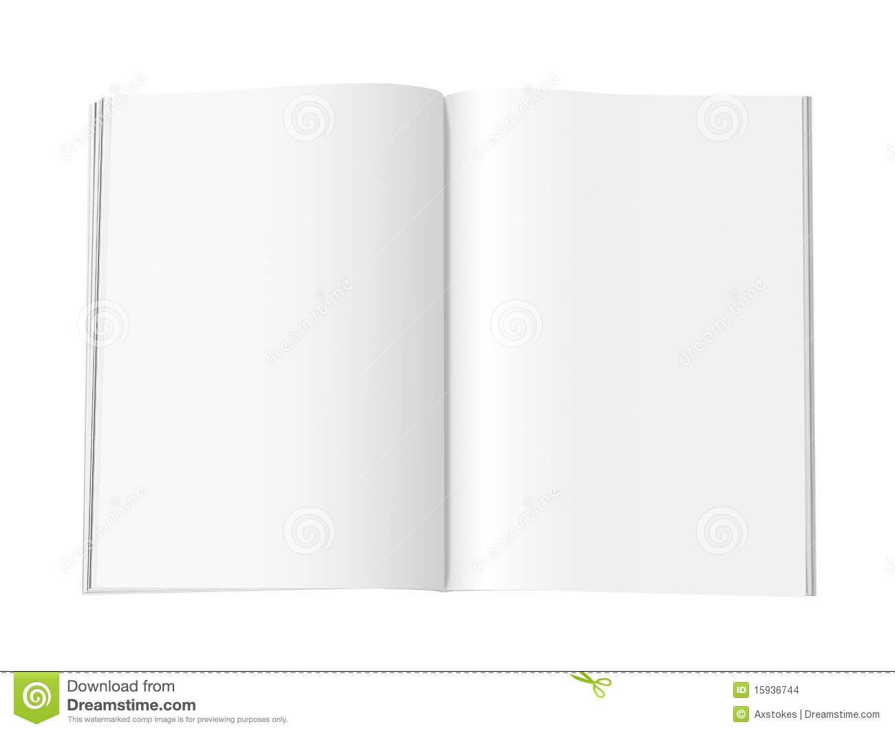 Blank Magazine Pages Xl Stock Images Image 15936744
