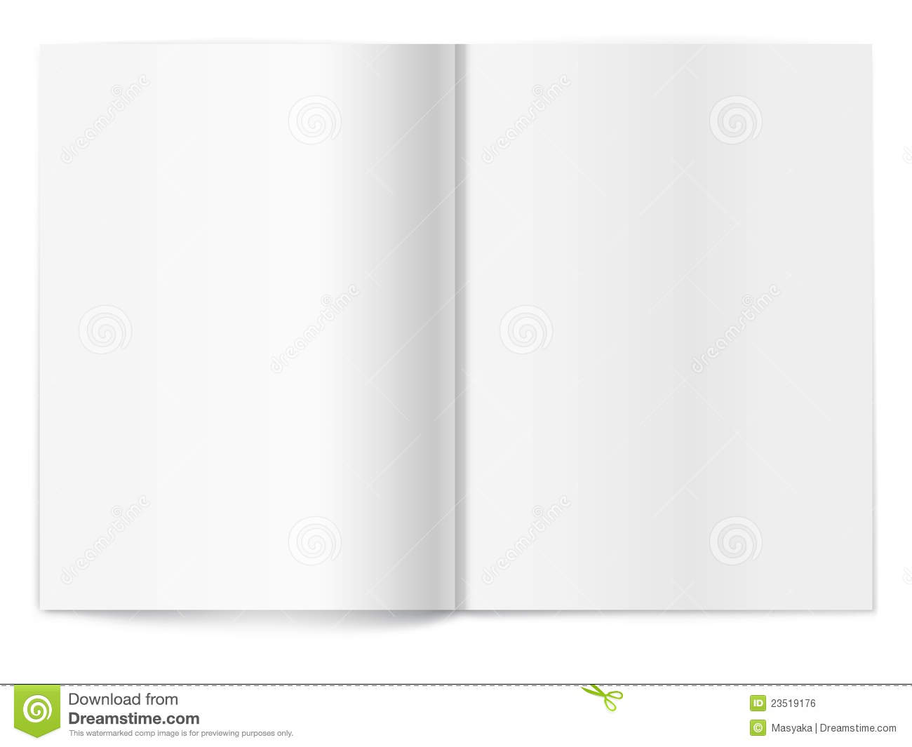 magazine cover template publisher - blank magazine spread template for design royalty free