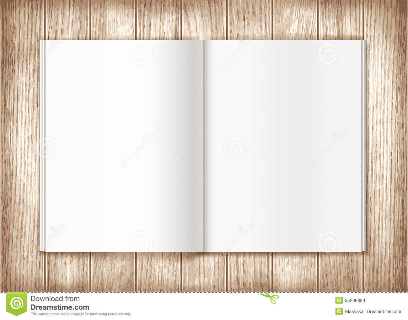 Blank magazine on wooden background template stock for Magazine cover template publisher