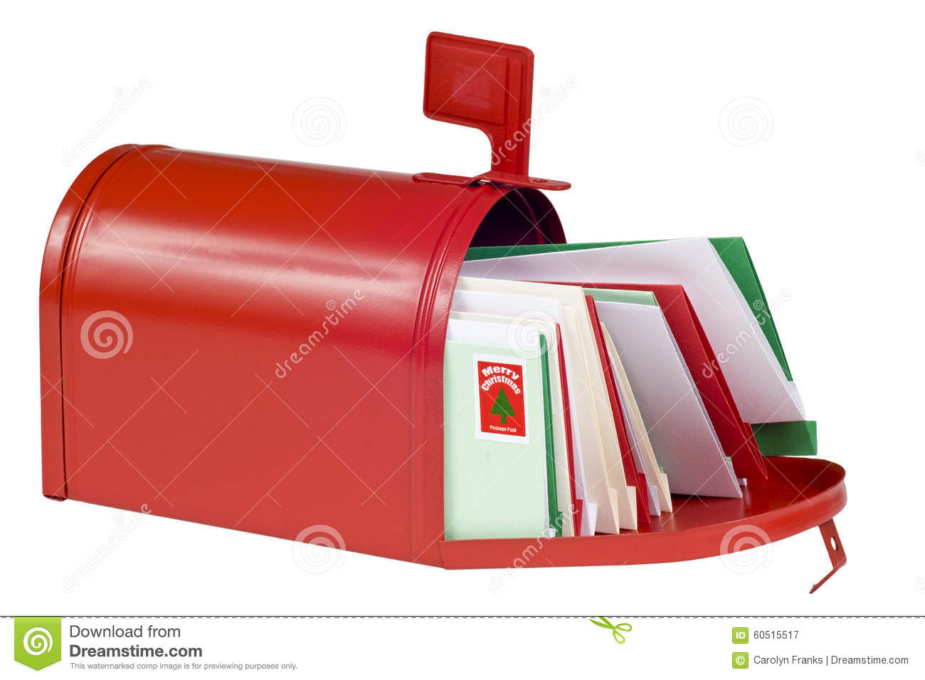 Blank Mail Box Filled With Christmas Cards Stock Image - Image of ...